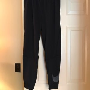 Black nike men's Dri-fit joggers